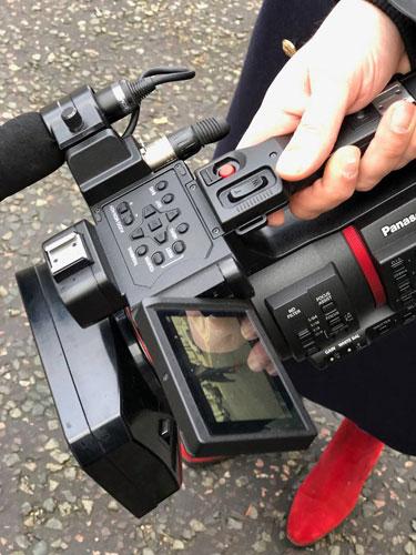 Panasonic CX350: Exploring London streets: Image Courtesy of Panasonic