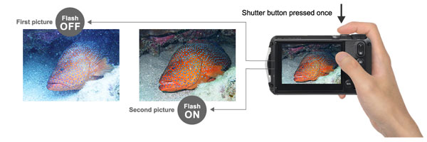 """RICOH WG-6: """"Dedicated Underwater mode. White balance is optimized to suppress blue tints for underwater photos with natural-looking colors. Underwater Movie mode also applies this effect while filming high-resolution 4K movies."""""""