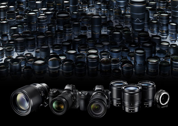 Nikon Z mount system includes Nikon Z mount mirrorless cameras, Z Mount S-Line lenses and lens mount adapter FTZ which allows support for approximately 360 NIKKOR F lenses