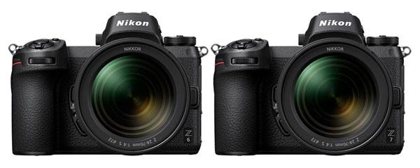 Nikon Z 6 (left) and Nikon Z 7 (right)