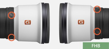 Sony FE 600mm F4 GM OSS: Customizable focus-hold buttons in four different locations on the lens barrel