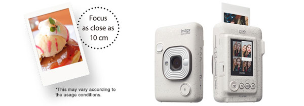 Fujifilm INSTAX MINI LIPLAY, Stone White: Use the display screen to get your best shot and select the images to print: Images Courtesy of Fujifilm