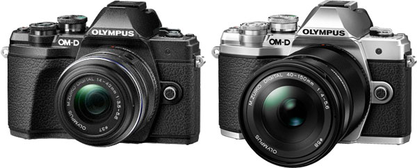 Olympus OM-D E-M10 Mark III (left to right): black and silver