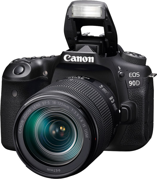Canon EOS 90D with Pop-up Flash