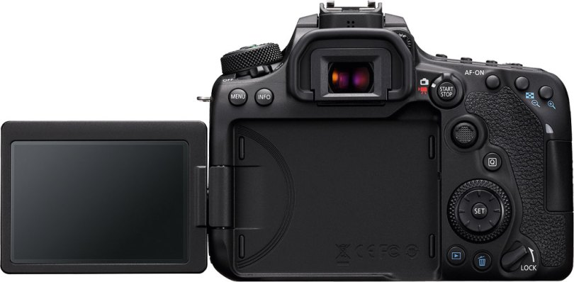Canon EOS 90D Back View