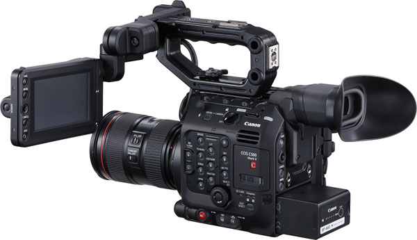 Canon EOS C500 Mark II with optional EVF-V70 electronic viewfinder