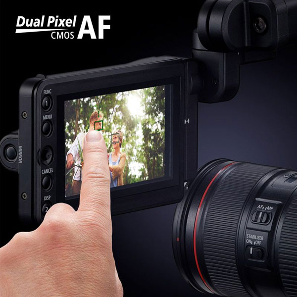 Canon EOS C500 Mark II: Dual Pixel CMOS AF with support for Touch AF and Face Detection AF: Image Courtesy of Canon