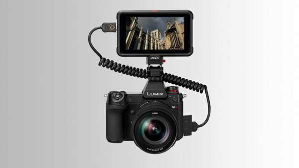 Panasonic LUMIX S1H Camera with Atomos Ninja V Monitor Recorder
