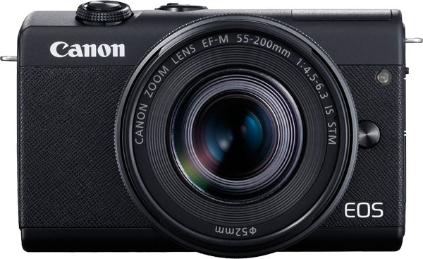 Canon EOS M200 (Black) with EF-M 55-200mm f/4.5-6.3 IS STM lens