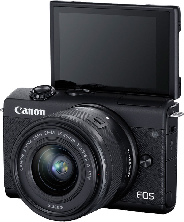Canon EOS M200 Mirrorless Camera (Black) with EF-M 15-45mm f/3.5-6.3 IS STM Lens