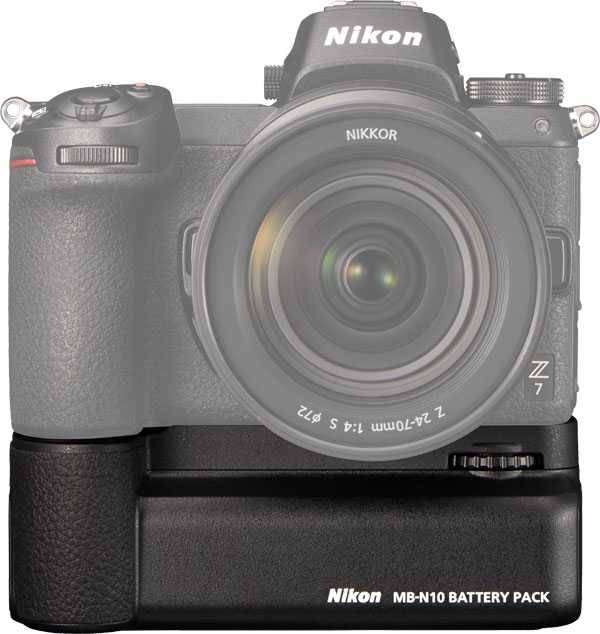 Nikon Z 7 with MB-N10 Battery Pack