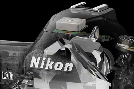 Nikon D6: Image Courtesy of Nikon: Built-in GPS