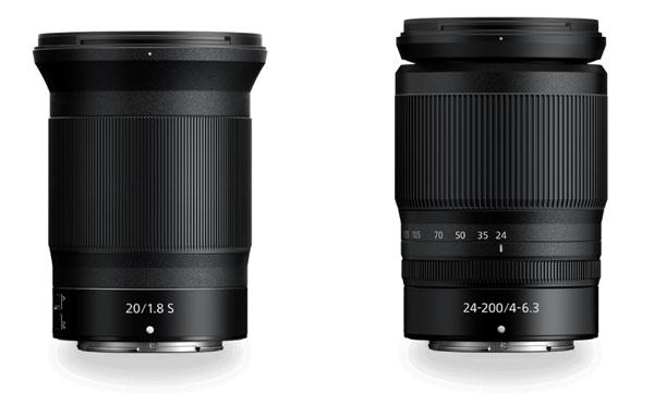 NIKKOR Z 20mm f/1.8 S (left) and NIKKOR Z 24-200mm f/4-6.3 VR (right)