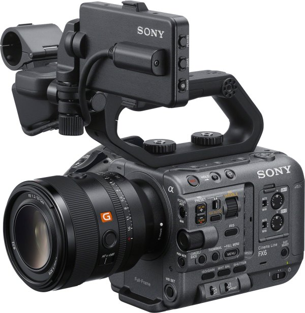 Sony FX6 with FE 50mm F1.2 G Master