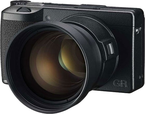 RICOH GR IIIx with optional GT-2 Tele Conversion Lens (and required GA-2 Lens Adapter)