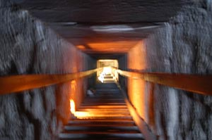 passage to the burial chamber