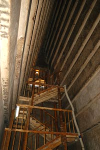 scaffolding to the burial chamber