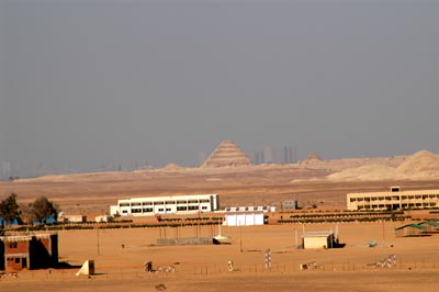 view north of saqqara