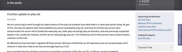 Redizajnirani sajt PHP.net kao malware