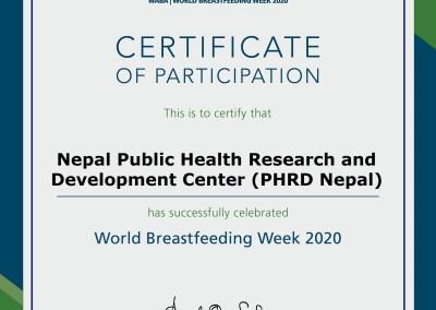 World Breastfeeding Week Celebration -2020