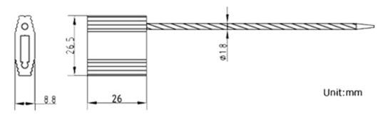 Cấu trúc seal cáp khóa nhôm