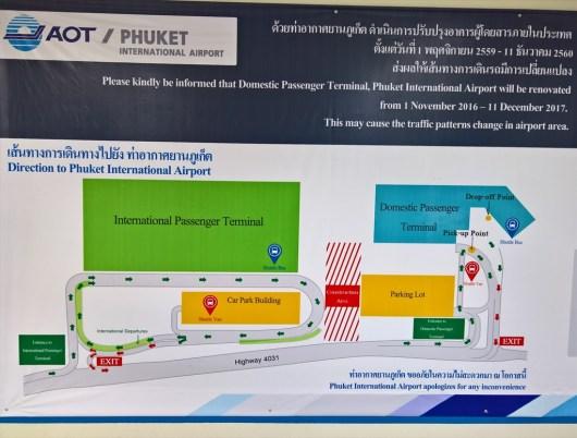 プーケット国際空港・国際線&国内線間をつなぐ無料シャトルサービスについて ( 2017年12月11日まで)