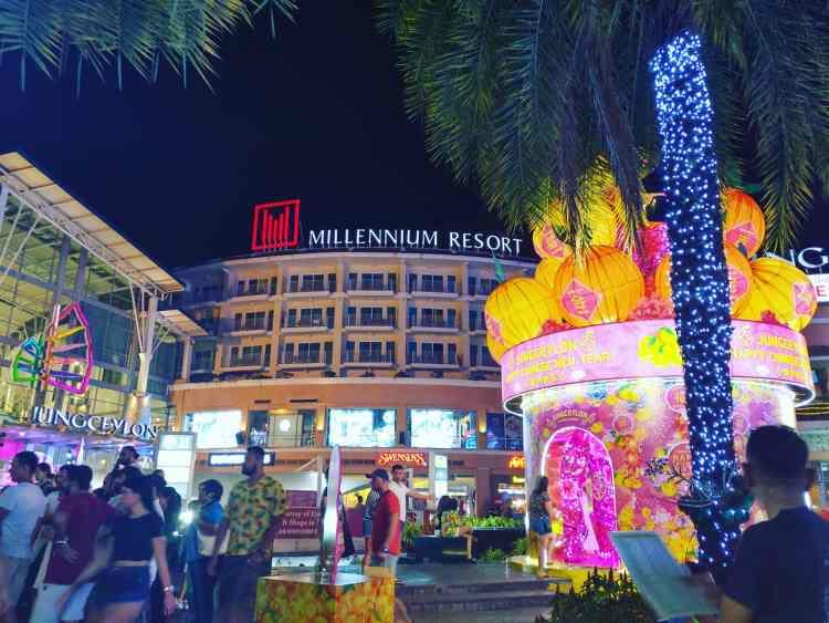 パトンビーチのショッピングセンター・ジャンクセイロンの2020年度の中国旧正月(春節)デコレーション