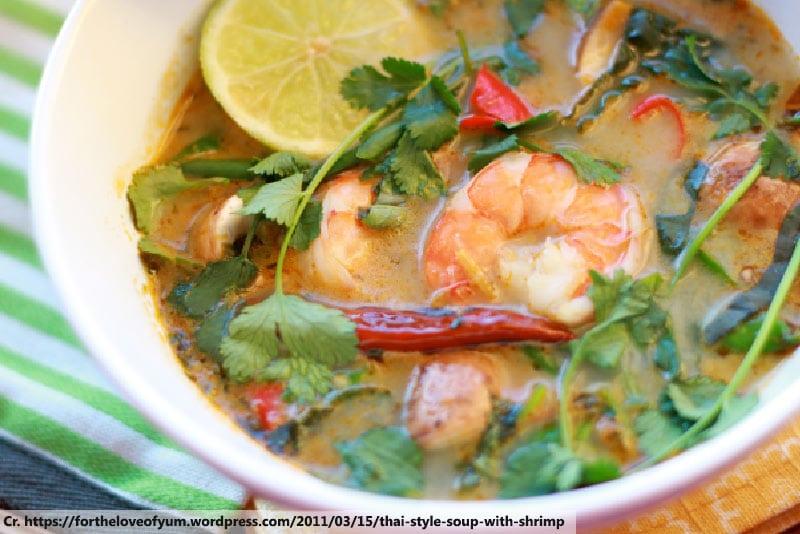 Tom Yum Kung, famous thai food in Phuket