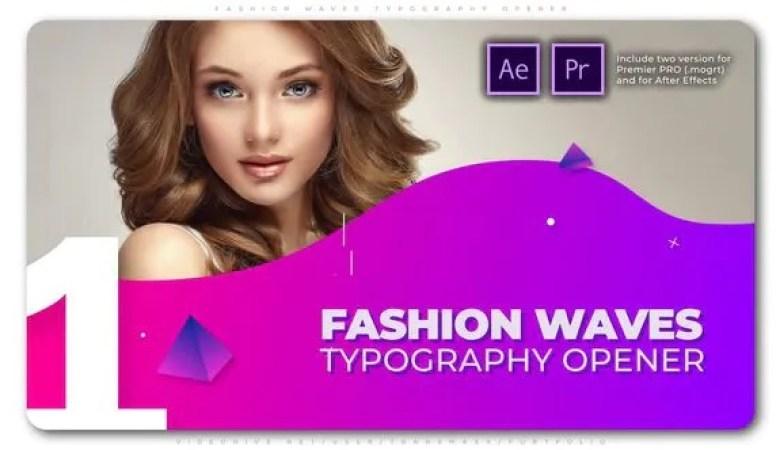 Fashion Waves Typography Opener 25566356