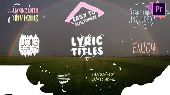 Videohive Cartoon Lyric Title Premiere Pro MOGRT 24535632
