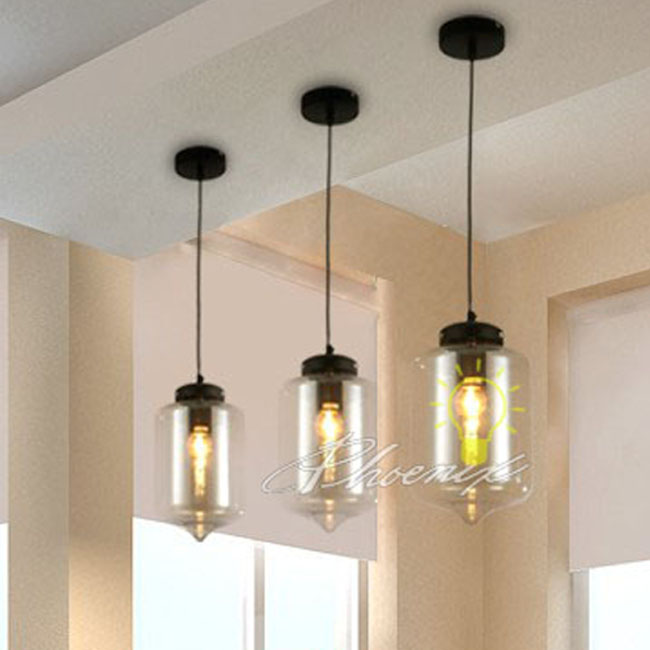Loft Glass Jar Pendant Lighting 7750