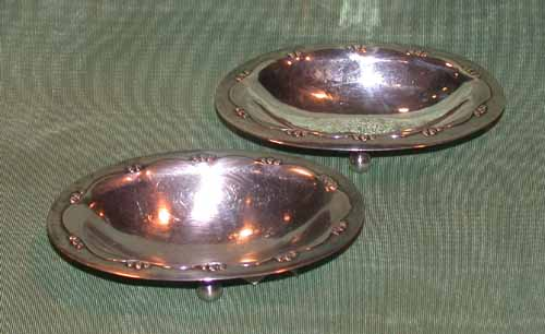 Two Sterling Georg Jensen Nut Dishes 01