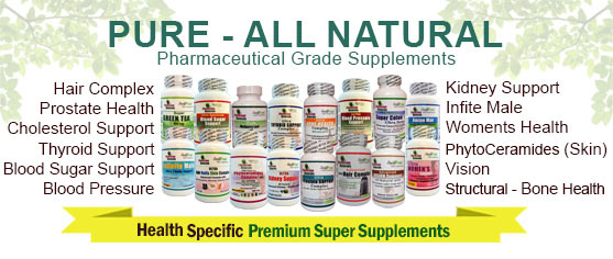 Pure - All Natural Health Specific Supplements | 4th July Special Offer
