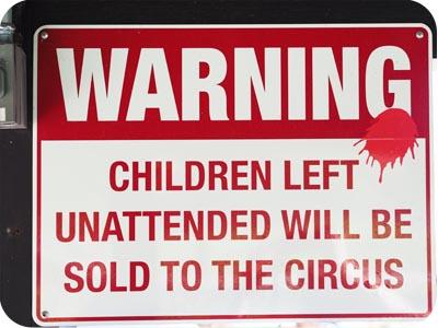 unattended children will be sold lagunita
