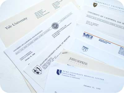 medical school rejection letters