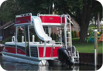 pontoon with slide