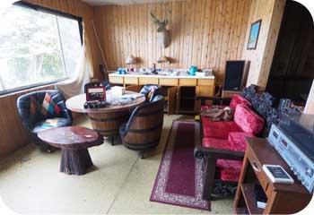 waterfront cabin interior