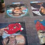 Sidewalk Chalk Portraits, Guanajuato