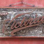 Antique Victoria Beer Sign