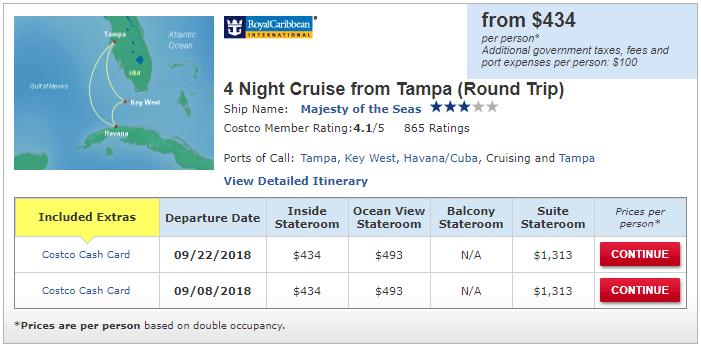 Costco Cuba Cruise