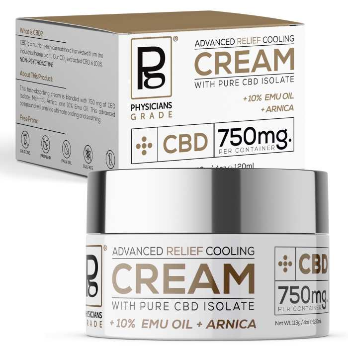 Advanced Relief Cooling Cream + 750mg CBD