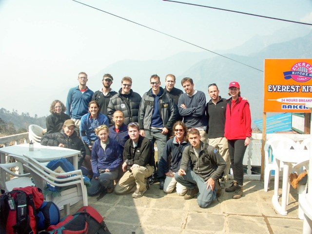 HRA research team, Lukla airport