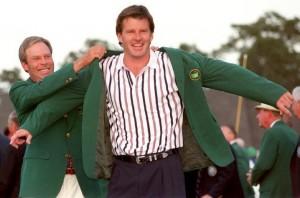 Nick Faldo after hid 1996 success - Picture credit - Augusta.com
