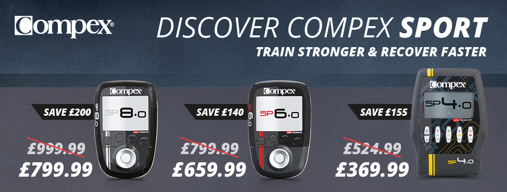 Check out our discounted deals on Compex Muscle Stimulators!