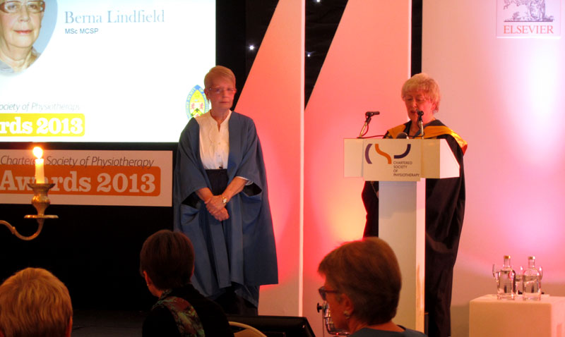 The Chartered Society of Physiotherapy (CSP) award ceremony 2013