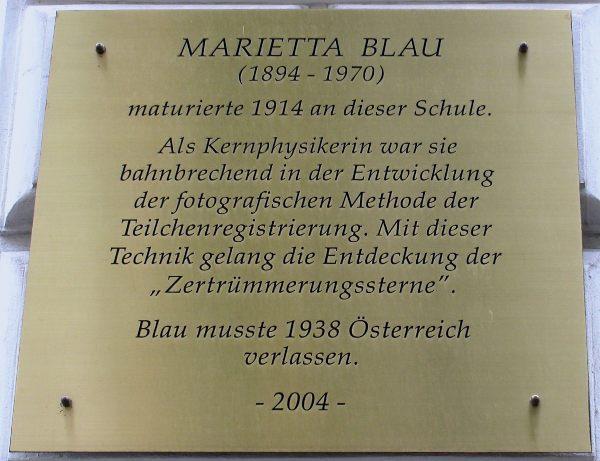 Woran hat Marietta Blau geforscht?