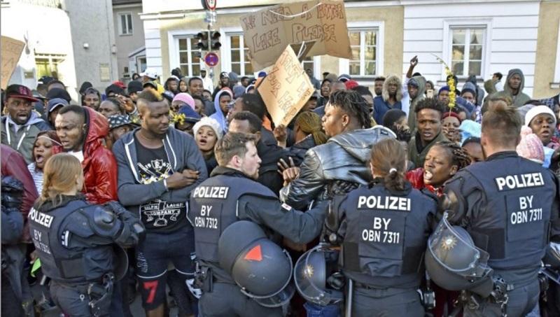 Demonstrant skjuten till dods