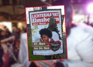 """Elmshorn wirbt mit Negerchristkind für das """"Lichterfest""""."""