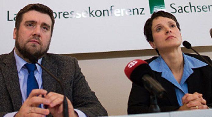 Sind heute von ihren Ämtern zurückgetreten: Sachsens AfD-Generalsekretär Uwe Wurlitzer und Sachsens Landesvorsitzende Petry.