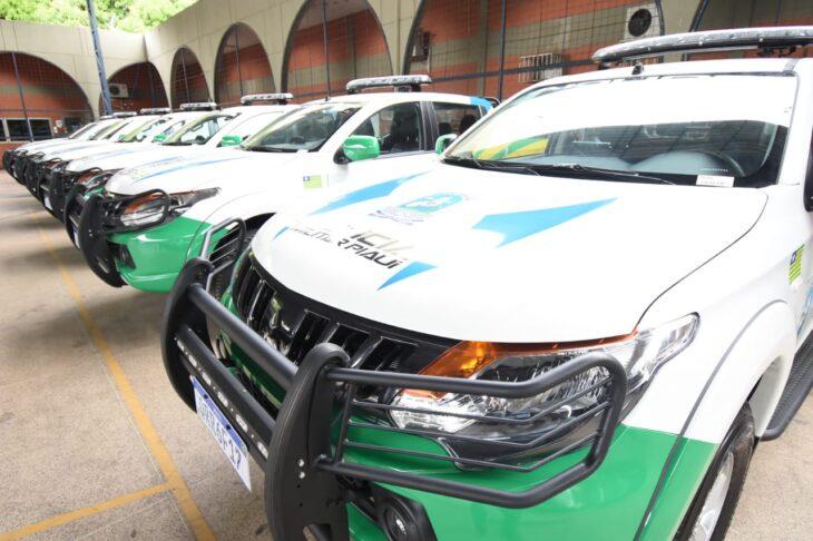 Entrega de viaturas PM Wellington Dias 1 Polícia Militar recebe 24 novas viaturas do governador